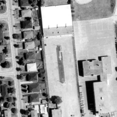 Aladdin Lanes from above in 1991. Image: geoOttawa.