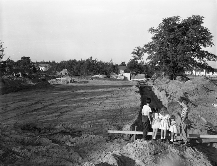 It's not the Athans subdivision. It's Blossom Park on July 19, 1956. Close enough. Image: Ted Grant / City of Ottawa Archives, Item CA039619.