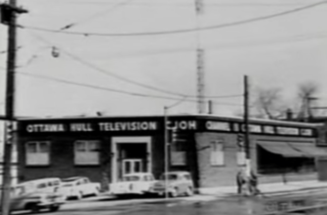 "CJOH's original (temporary) location, at Somerset West and Bayswater. Image: CTV Ottawa ""50th Anniversary Flashback"" (2011)"