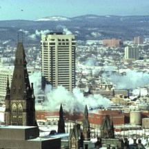 Phase I, viewed from Parliament. 1975. Image: Public Works / LAC Accession 1984-082 NPC Box TCS 00041 Item 3-13.