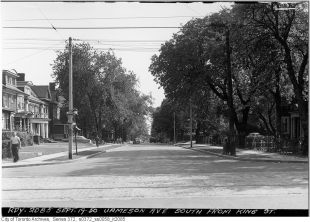 Jameson, looking south from King. Image: City of Toronto Archives, Fonds 200, Series 372, Subseries 58, Item 2085.