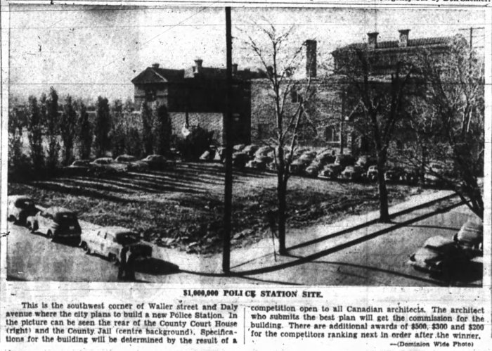 By the fall, the new site was ready to be constructed on. Source: Ottawa Journal, October 22, 1954, p. 3.