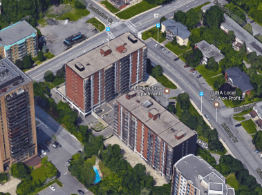 Brittany Drive Apartments, 2015. Image: Google Maps.