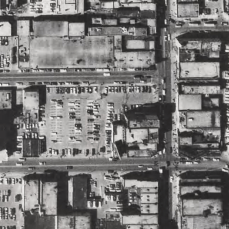 The parking lot from above. Image: City of Toronto Archives, Series 12, 1971, Item 48.