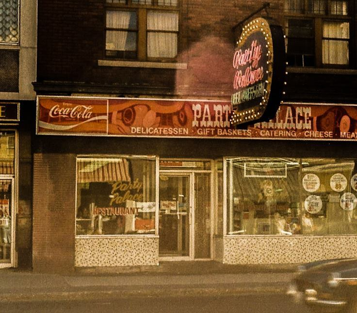 Party Palace, now McDonald's. Early 1980s. It's a bit to make out, but you can see Goldstein's reflected in the glass. Image: Ronald Temchuk.