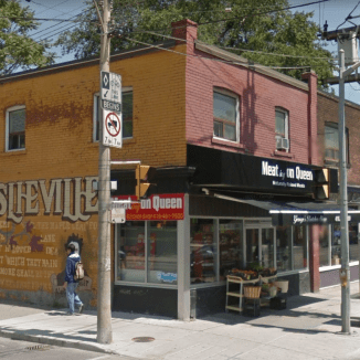 Queen Street East and Jones, July 2015. Image: Google Maps.