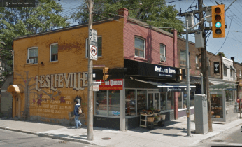 Queen Street East and Jones, July 2015. Image: Google Maps.