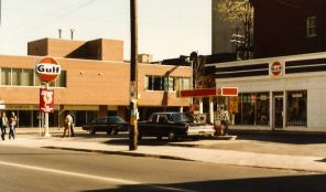 Now the site of the Zesty's, corner of Elgin and Maclaren. Early 1980s. Image: Ronald Temchuk.