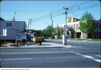 Dundas West and Coxwell, 1980s. Source: City of Toronto Archives, Fonds 200, Series 1465 File 191, Item 15.