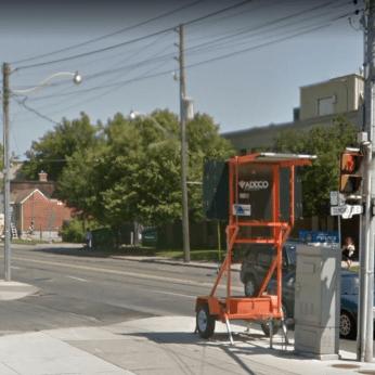 Dundas West and Coxwell, 2015. Source: Google Maps.