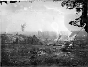 """""""Dome"""" Gold Mine plant after Porcupine fire, 1911. Image: H. Peters / Archives of Ontario C 312-0-0-0-11."""