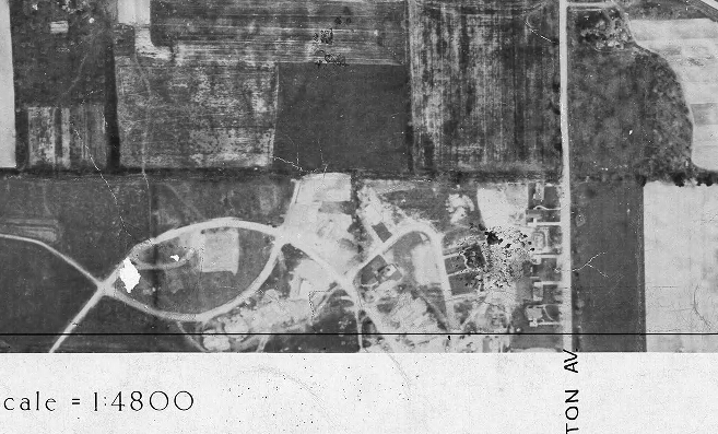 A young Thorncrest, from above, in 1947. Image: City of Toronto Archives, Series 12, Item 12F.