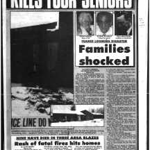 The series of fires in care homes did not escape the notice of the Sun's reporters. Source: Ottawa Sun, January 2, 1990, 5.