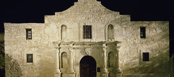 The Alamo, built in the 18th century from locally quarried limestone, rests deep in the heart of Texas. (Photo: Library of Congress)