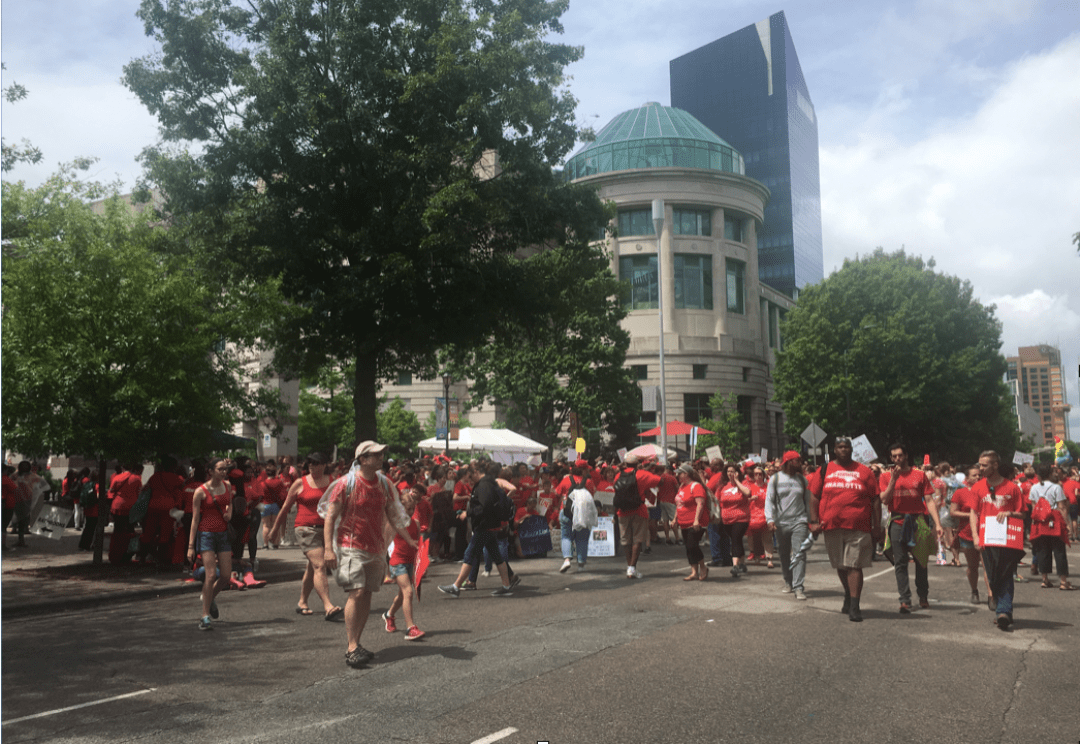history of education rally - In the Streets, in the Archives: Decades of Teacher Protest in North Carolina