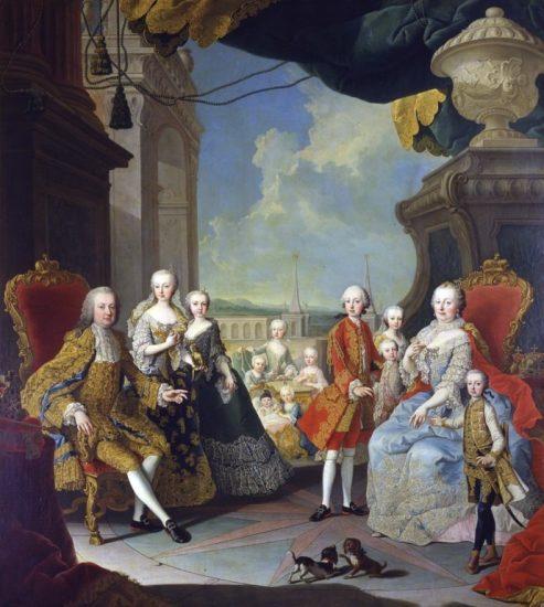 Maria Theresa's family around 1755