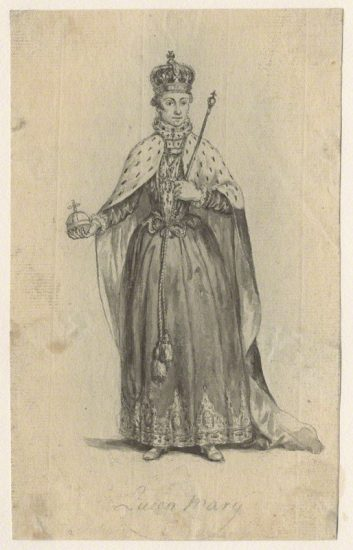 Queen Mary I by Unknown artist pen and wash, 19th century NPG D20963 © National Portrait Gallery, London