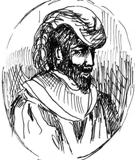 Hernando de Soto. (Sketch by Janis Blair)