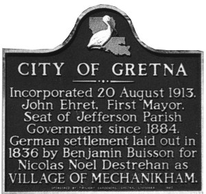 Gretna Historical Marker
