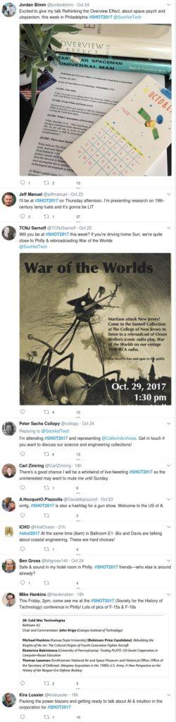 SHOT 2017 Twitter excerpt
