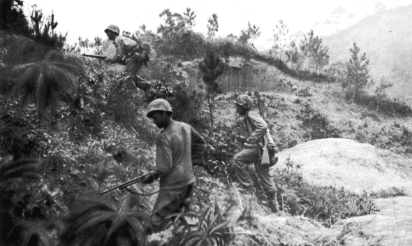 Unloading supplies on Guadalcanal