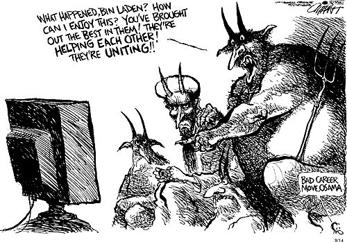911 Pop Culture Reaction Political Cartoons