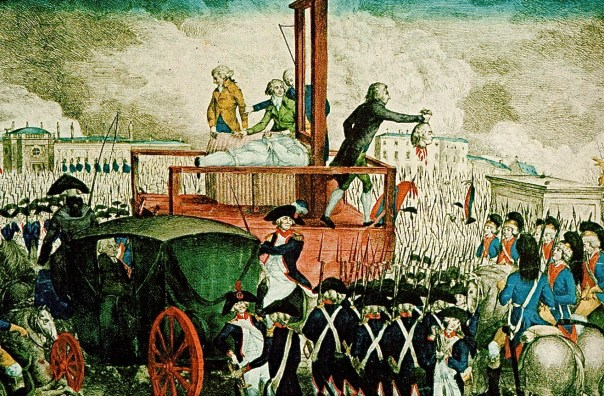 Image result for Louis XVI of France is executed by guillotine