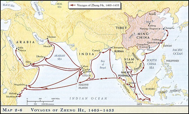 Zheng He Treasure Ship Voyages