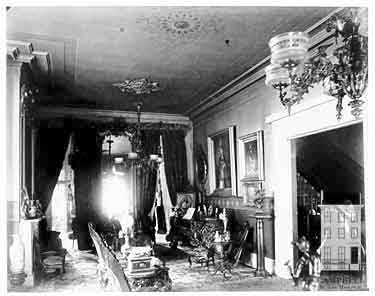 The parlor in the Campbell House