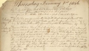 A piece of Nathaniel Bryceson's journal