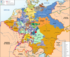 Map of the Holy Roman Empire 1789