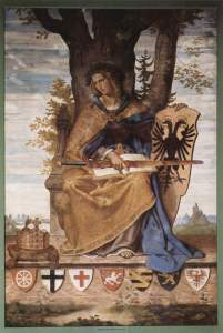 A fresco created by Philipp Veit to represent German unification.