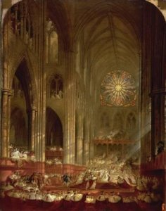 Coronation of Queen Victoria by John Martin