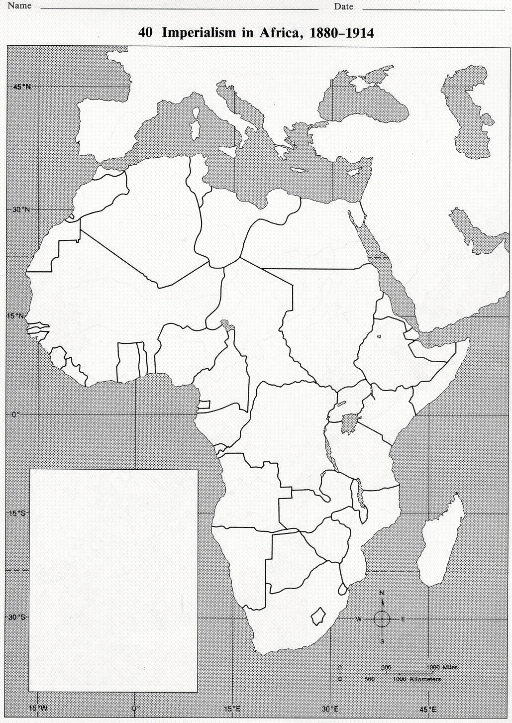 Blank Map Of Africa In