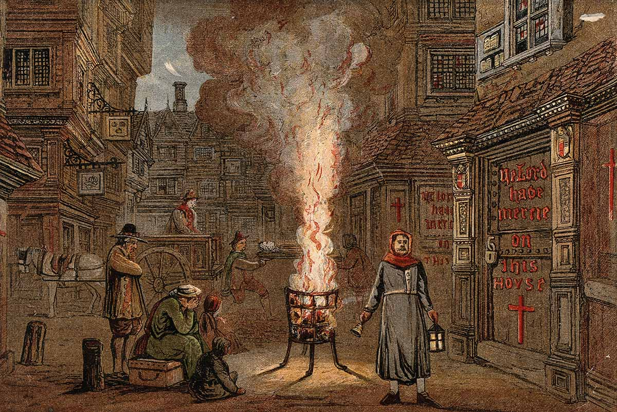 The Plague in England   History Today