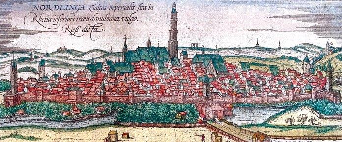 Nördlingen, in Civitates orbis terrarum by Braun and Hogenberg, 1572.