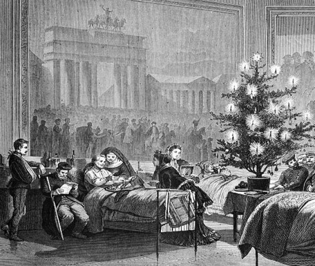 A Christmas Tree For German Soldiers In A Temporary Hospital In