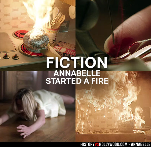 Annabelle Movie Sewing Needle and Kitchen Fire