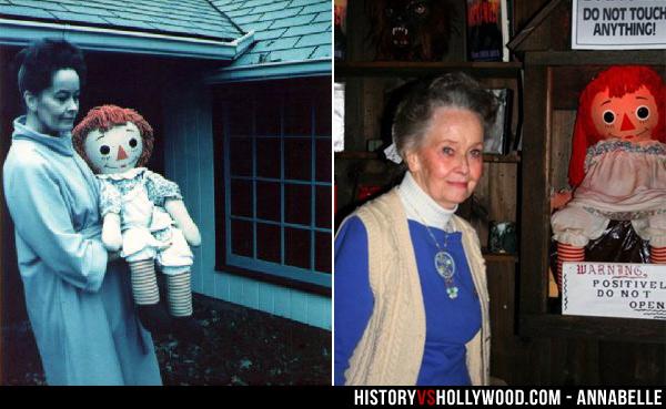 Lorraine Warren and Annabelle Doll