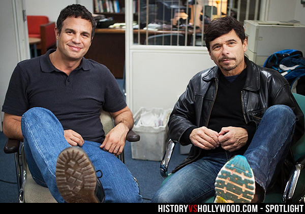 Mark Ruffalo and the real Michael Rezendes
