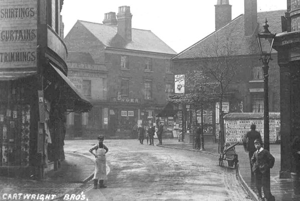 Willenhall Market Place, from History Website. Click for link.