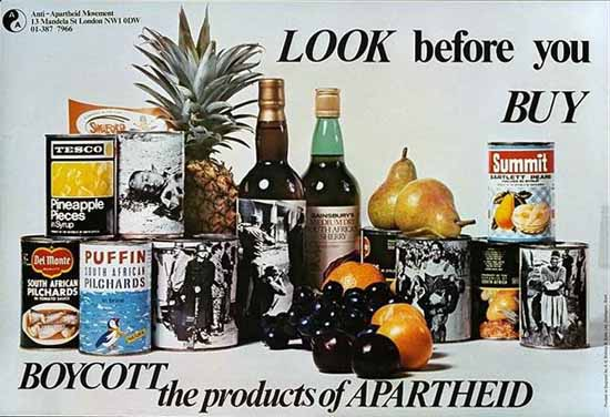 boycott the products of apartheid
