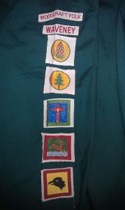 woodcraft folk badges from the 1980s