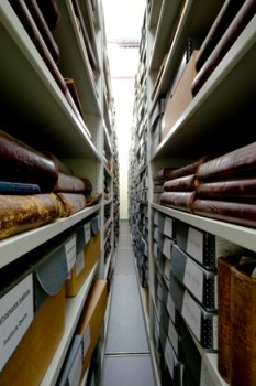 image of the bishopsgate institute archive store
