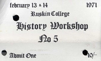 image of a ticket for history workshop 5