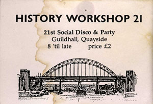 image of a ticket for the social at history workshop 21