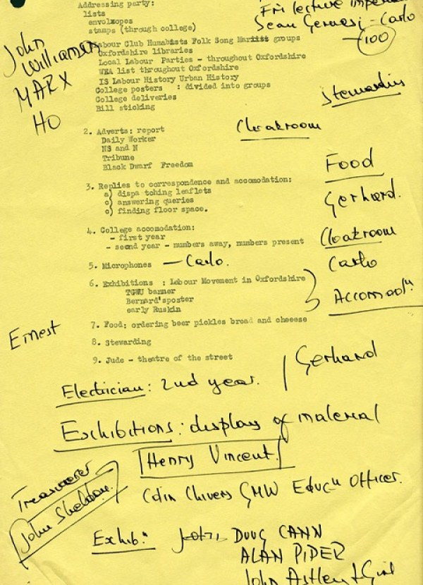 image of the agenda for history workshop 3
