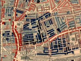 Poverty map of Old Nichol slum, East End of London, 1889