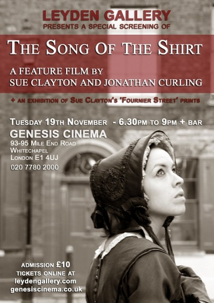Press Release Song of the Shirt screening Poster