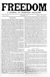 The first issue of Freedom